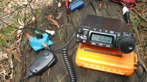 FT-857D deployed for a SOTA activation of Mt Little Joe VK3/VC-027